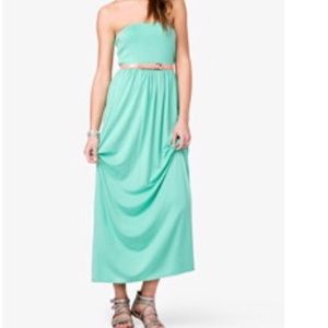 Forever 21 mint green tube dress. Also have coral.